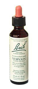 Original Flower Essences Vervain 20 ml by Bach Flower Remedies. $8.39. Bach ORIGINAL FLOWER ESSENCES Dr. Edward Bach stated VERVAIN Verbena officinalus Helps you to relax when you are over enthusiastic or strongly driven Bach Flower Remedy For Naturally Occurring Nervous Tension 20 ml (0.7 fl oz) A Homeopathic Remedy Contains 27% Alcohol INDICATIONS: For relief of naturally occuring nervous tension. WARNINGS: Keep out of reach of children. If pregnant or breast-feeding...