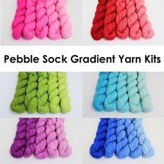 Gradient Yarn, Pebble Sock
