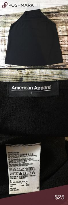 """American Apparel Apron neck Tank American Apparel Apron neck Tank, in great pre owned condition! Size S. Armpit to armpit approximately 17 1/2"""". Length approximately 26"""". American Apparel Tops Blouses"""