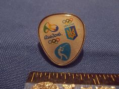 2016 Rio Olympic NOC Pin Ukraine Team Shooting Dated