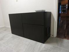 DIY Cat Box Cabinet  http://evanandkatelyn.com/2013/05/diy-cat-box-cabinet/