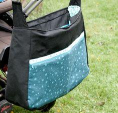 Diese Kinderwagentasche entstand auf Kundenwunsch - eine Maßanfertigung. Passend dazu nähte ich eine Windeltasche für meine Kundin.  Anfragen unter thecraftingcafe@posteo.de