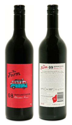 The Farm wine label by brainCELLS