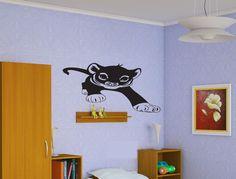 Baby Lion Sticker Wall Vinyl Kids Lion Kitten Animal Mural Decal Decor Gift #224 #HomeOfStickers