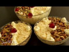 مطبخ هبه نحاس حلبي - YouTube Arabic Sweets, Almond Cookies, Middle Eastern Recipes, Cooking Videos, Whipped Cream, Camembert Cheese, Acai Bowl, Pudding, Breakfast