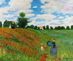 Handmazing,Wild Poppies, near Argenteuil-Claude Monet Hand-made oil painting,Well-framed oil painting,Rent Famous Landscape Paintings, Famous Artists Paintings, Monet Paintings, Landscape Art, Original Paintings, Famous Artwork, Claude Monet, Impressionist Landscape, Impressionist Artists
