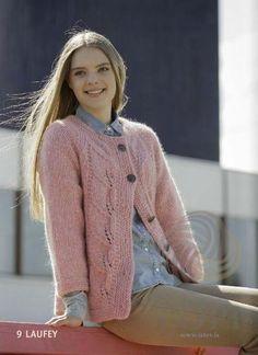 - Icelandic Laufey Women Wool Cardigan Pink - Tailor Made - Nordic Store Icelandic Wool Sweaters  - 1