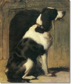 sir-edwin-henry-landseer-a-pointer-guarding-his-kennel.jpg (423×500)