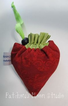 Reversible Drawstring Strawberry Bag – PDF Sewing Pattern - A whimsical bag pattern by Patchouli Moon ☽