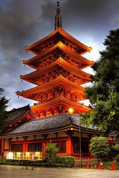 Senso-ji, also known as Asakusa Kannon Temple, Tokyo, Japan