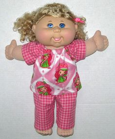 Cabbage Patch Doll Clothes Strawberry Shortcake by Dakocreations, $14.50