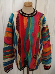 Vintage COOGIE mens Colorful Austrailia Cosby Sweater