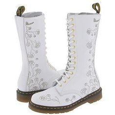Dr. Martens wedding shoes | Dr. Martens womens eyelet fabric lace up boot industrial got ..- Too tall, I know.