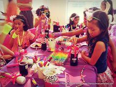 "bracelet/necklace activity  Photo 1 of 27: Rockstar Birthday / Birthday ""Girls Just Want To Have Fun / Rockstar Theme""   Catch My Party"