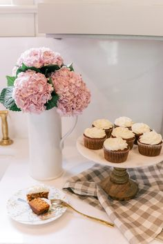 Healthier Carrot Cake Cupcakes with Cream Cheese Frosting- by Elisabeth & Butter