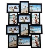 Found it at Wayfair - 12 Opening Wood Photo Collage Wall Hanging Picture Frame