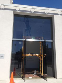 ceramic 40 window film applied to commercial glass