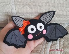 PDF Pattern Bat Felt Pattern Felt Ornament by Bauldemalinka