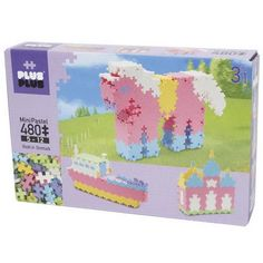 Plus-Plus Mini 480 Pastel, 3in1 | edukacnehracky.sk Pastel Purple, Pastel Colors, Colours, Age 3, Booklet, Pink And Green, Hello Kitty, Brick, Diagram