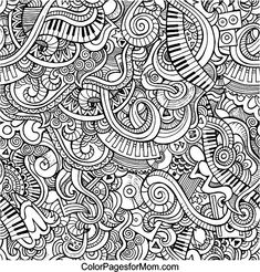 music doodles 59 coloring page