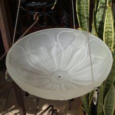 repurpose light shade fixture bird feeder hanging by ARTfulSalvage, $40.00