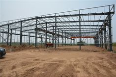 wide span light steel structure warehouse