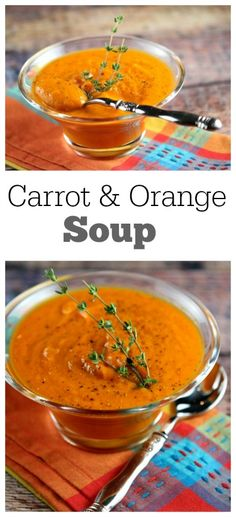 Carrot and Orange Soup Recipe : nutritional information and Weight Watcher's points included.