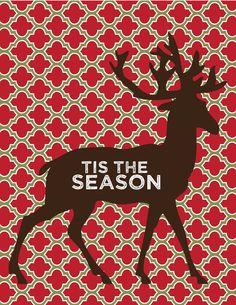 Tis the Season Customizeable Christmas Print via Etsy.