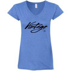 """""""Vintage"""" V neck Tee"""