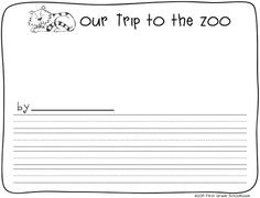 Zoo Animal Writing. Writing about a trip to the zoo or favorite zoo animal. Free download.