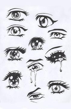 anime eyes iPhone Skin