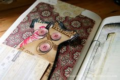 Ephemera's Vintage Garden: Altered Book With Printable Journal Papers dcwv heirloom stack
