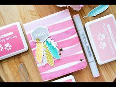 STAMPtember(R) Blog Hop – Painted-Like Stamped Background. Video + Giveaway | Yana Smakula. My Cardmaking & Scrapbooking