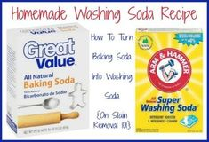 Alyse shared this homemade washing soda recipe, for turning baking soda to washing soda. I've actually seen this recipe floating around the Internet for