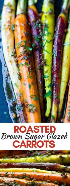 Roasted Rainbow Carrots Recipe with Brown Sugar Glaze