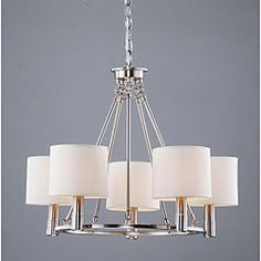 @Overstock - An antique nickel finish highlights this elegant 5-light chandelier. This light fixture features a light beige shade.http://www.overstock.com/Home-Garden/Indoor-5-light-Antique-Nickel-Chandelier/5184452/product.html?CID=214117 $152.99