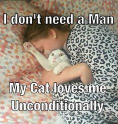 Crazy cat lady loves her cat!