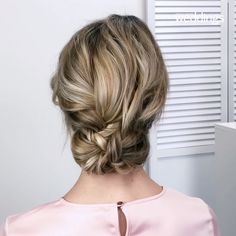 Looking for a way to add a little bit of romance to your wedding hairstyle? Try a braid. The always-in-style accent is the perfect addition to just about any bridal beauty look, whether you're sporting a wispy updo, wearing your hair down, or going f Medium Hair Styles, Curly Hair Styles, Long Hair Ponytail Styles, Hair Down Styles, Braided Hairstyles For Wedding, Hairstyle Wedding, Hairstyle Ideas, Hairdo For Wedding Guest, Short Hairstyles For Wedding Bridesmaid