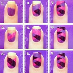 Fishtail tutorial:  Step-By-Step-Nail-Art-Tutorials-For-Beginners-Learners-2013-2014-4.jpg (400×401)