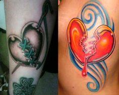 Broken Heart Tattoo Designs 158 - http://tattoosaddict.com/broken-heart-tattoo-designs-158.html #158, #Broken, #Designs, #Heart, #HeartTattoos, #Tattoo