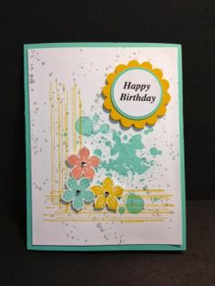 Gorgeous Grunge  & Petite Petals  Birthday Card Handmade Cards Stampin' Up! Rubber Stamping