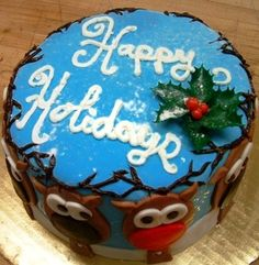 Happy Holidays cake by Mueller's Bakery