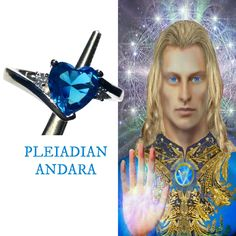 Andara Ring. Size 7 Heart StarSeed Ring, Co Created with The Pleiadian High Council to Hold Their Energy. Portal to Stars, Crystals #1115 The Pleiades, Star Cluster, Healing Crystal Jewelry, Natural Glow, Divine Feminine, Female Form, Natural World, Alchemy, Swarovski Crystals