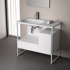 Frame, meuble salle de bain de 60 à 120 cm, 3 coloris   #salledebain #meuble  #design #style #deco #bathroom #bath #bathroomdesign #bathroomideas