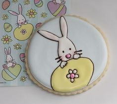 Bunny Easter Cookie By: @Sweetopia ~ Marian Poirier ~ Marian Poirier Repinned By:#TheCookieCutterCompany