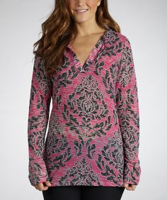 Take a look at this Fuchsia High Society Hooded Cover-Up by Marika on #zulily today!