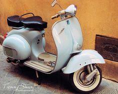 Vespa blu in Siena, Italy #Tiffany Dawn #Photography #etsy