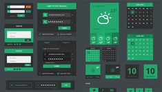 25+ flat UI kits for web designers