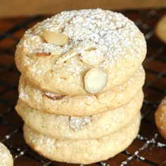 Almond Macaroons - This cookie has four ingredients, is gluten free and once made, vanished very fast from the cookie tray.