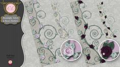 CLGraphics Moonlight Velvet and Roses Borders